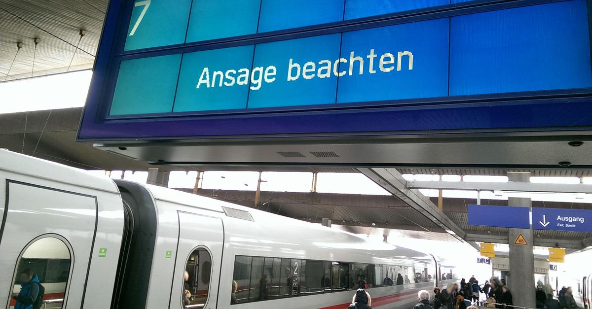 Rechte Bahnstreik