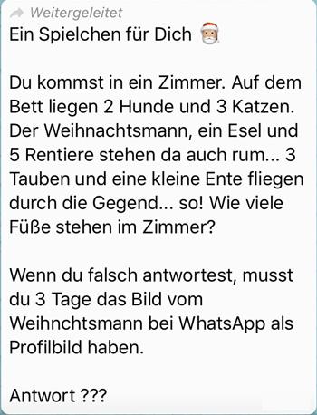 Weihnachtsmann Spiel Whatsapp