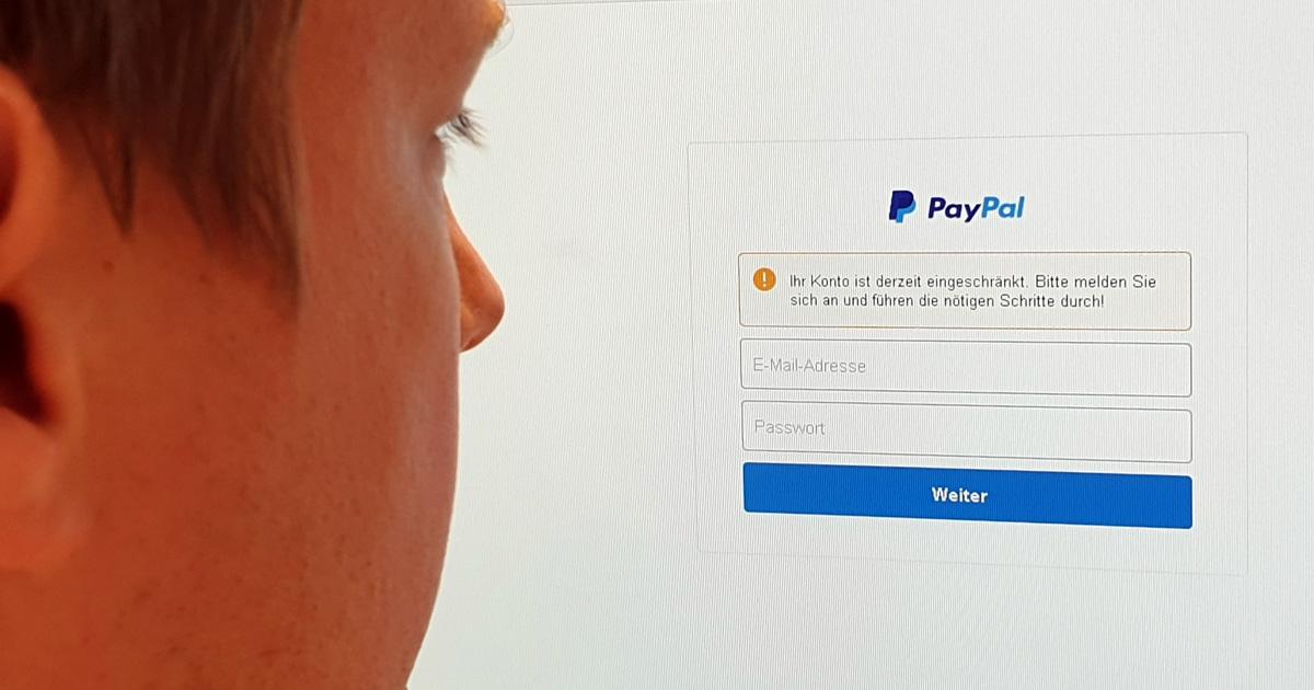 geld per paypal an falsche email adresse gesendet