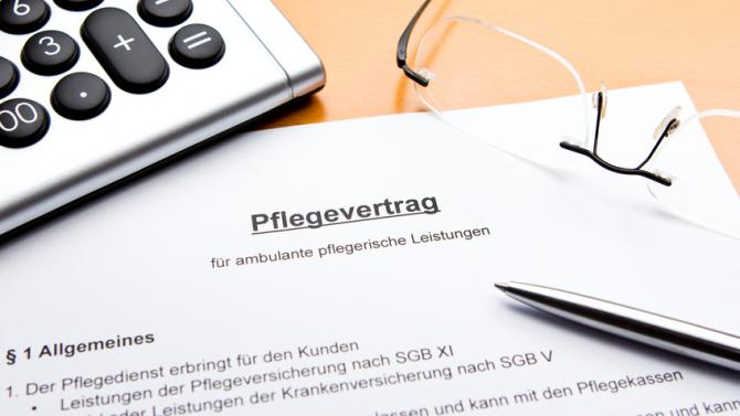 Pflegevertrag