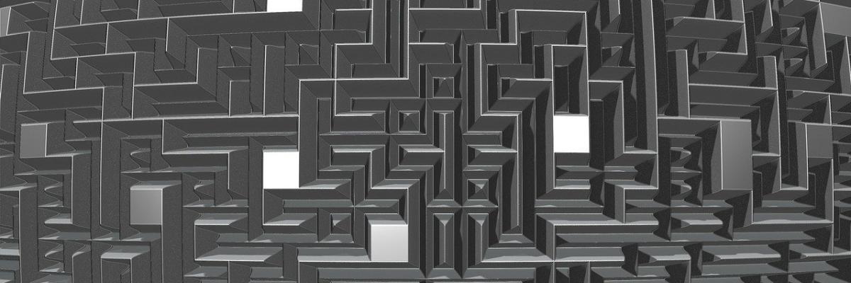 Düsteres Labyrinth von oben